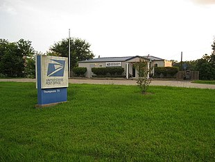 US Post Office at Thompsons, Texas