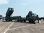 Tien Kung Ⅱ Missile Launcher with Truck Display at Gangshan Air Force Base Apron 20170812a.jpg