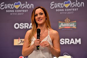 Serbia in the Eurovision Song Contest 2017 - Tijana Bogićević during a press meet and greet