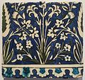 Tile from Damascus Syria, Ottoman, 17th-18th century, Honolulu Museum of Art II.jpg