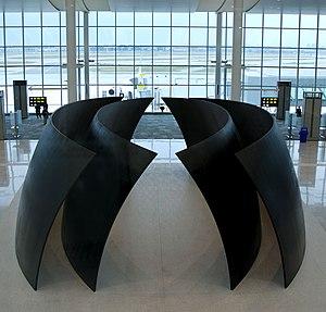 Richard Serra - Richard Serra's Tilted Spheres in Terminal 1 Pier F at Toronto's YYZ airport