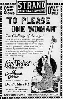 <i>To Please One Woman</i> 1920 film by Lois Weber