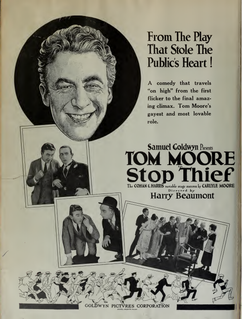 <i>Stop Thief!</i> (1920 film) 1920 film by Harry Beaumont