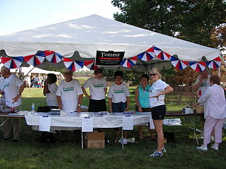 Tommy Thompson 2008 presidential campaign - Tommy Thompson's campaign tent at the Ames Straw Poll