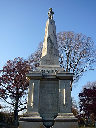 General Tom Thumb - Stratton's grave at Mountain Grove Cemetery.