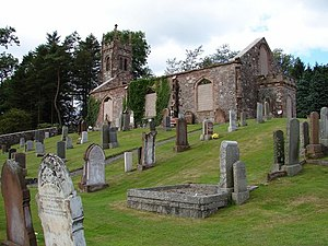 Tongland Abbey - Tongland churchyard contains remains of the older church (1773), and fragments of the 12th century Abbey. Photo by Chris Newman