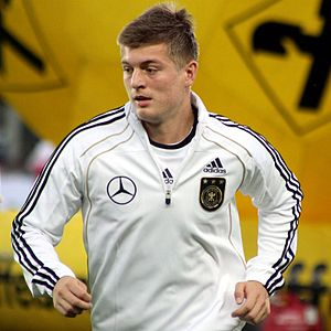 Toni Kroos - Toni Kroos warming up for Germany in 2011.