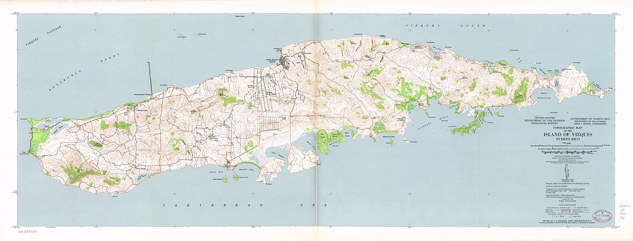 Map Of The Island Of Vieques