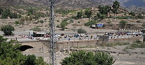 Torkham border crossing in September 2011