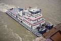 Towboat Bruce Darst upbound at Clark Bridge Louisville Kentucky USA Ohio River mile 604 2005 file a5k022.jpg