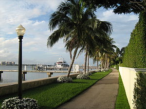 Palm Beach, Florida - The Lake Trail along the Lake Worth Lagoon