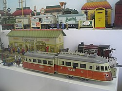 Toy Museum in Prague - Tin toy trains 06.JPG