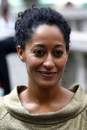Actress Tracee Ellis Ross enters the Bryant Pa...