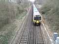 Train about to pass under Bartons Road Bridge - geograph.org.uk - 736564.jpg