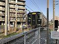 Train of Fukuhoku-Yutaka Line leaving from Yusu Station.jpg