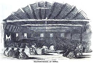 Free Wesleyan Church - Image: Training School at Tonga (June 1852, p.60, IX) Copy