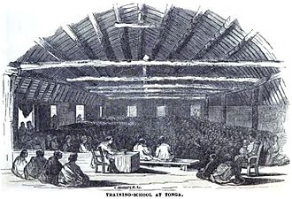 Free Wesleyan Church - Image: Training School at Tonga (June 1852, p.60, IX) Copy
