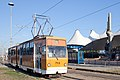 Tram in Sofia in front of Central Railway Station 2012 PD 061.jpg