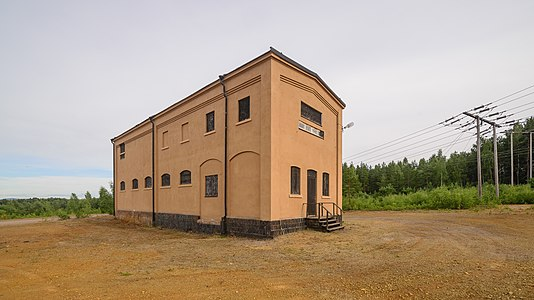 Transformatorbyggnad Falu koppargruva July 2017 01.jpg
