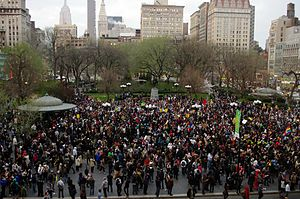 Trayvon Martin - Photo from the 'Million Hoodie March' in Union Square