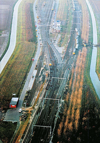 Hoofddorp train accident - Aftermath of the Hoofddorp train accident. Notice the track reconstruction in the area.