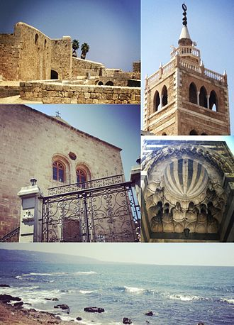 Tripoli, Lebanon - Clockwise from top left: Citadel of Raymond de Saint-Gilles, Mansouri Great Mosque minaret, Mamluk architecture, bay view, and a Syriac Catholic church