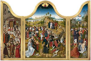 Triptych with the miracles of Christ