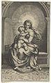 Tronende Maria met Kind en kleine vogel op schoot in nis.jpeg