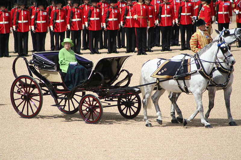 File:Trooping the Colour Queen carriage 16th June 2007.jpg