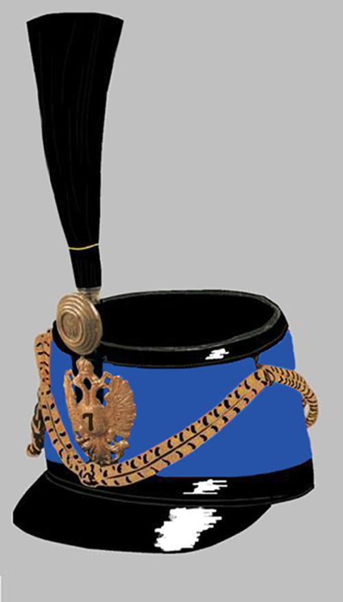 Tschako der k.u.k. Husaren-Regimenter 7 und 10