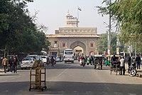 Tulsi Marg Street and Gate to City Palace, Jaipur, 20191218 1240 9216.jpg