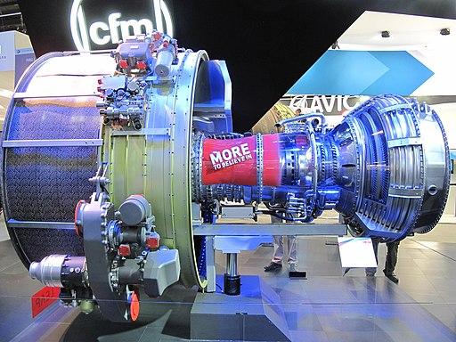 Turbofan CFM Leap at Paris Air Show 2013
