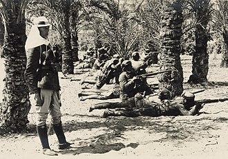 Battle of Katia - Ottoman troops at Katia
