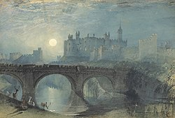 TURNER Joseph Mallord William Alnwick Castle, ca. 1829