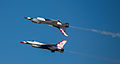 Two USAF Thunderbirds flying inverted - 2012 Arctic Thunder Air Show.jpg