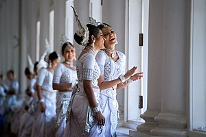 Kandyan dance - Dancers in costume for a traditional Kandyan Dance