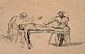 Two men studying a corpse by the light of a candle stuck in Wellcome V0010432.jpg