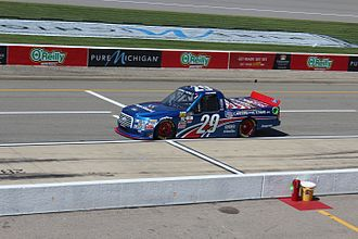 Tyler Reddick - Reddick's No. 29 F-150, sporting a special paint scheme for the 2016 Careers for Veterans 200 at Michigan International Speedway.