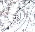 Typhoon June September 28, 1966 surface analysis.png