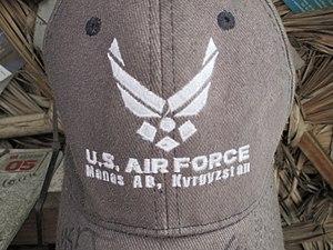 "Transit Center at Manas - Cap inscribed ""U.S. Air Force — Manas Air Base, Kyrgyzstan"""