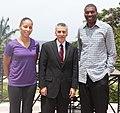 U.S. Ambassador Philip S. Goldberg Welcomes Former NBA WNBA Player.jpg
