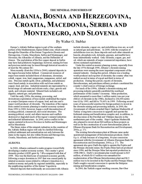 File:U.S. GEOLOGICAL SURVEY MINERALS YEARBOOK THE MINERAL INDUSTRIES OF THE BALKANS 9401000.pdf