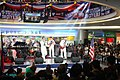 U.S. Sailors assigned to the U.S. 7th Fleet Band contemporary music ensemble Orient Express perform for the audience inside SM City Iloilo at Iloilo, Philippines, March 3, 2012 120303-N-SM668-011.jpg