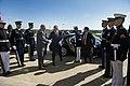 U.S. Secretary of Defense Chuck Hagel, fourth from left, hosts an honor cordon for Poland Minister of Defense Tomasz Siemoniak, fifth from left, at the Pentagon in Arlington, Va., April 17, 2014 140417-D-EV637-023.jpg