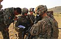 U.S. Soldiers with Echo Company, 2nd Battalion, 506th Infantry Regiment, 4th Brigade Combat Team, 101st Airborne Division discuss details with a member of the Afghan National Army's 2nd Battalion, 1st Brigade 130602-A-DQ133-068.jpg