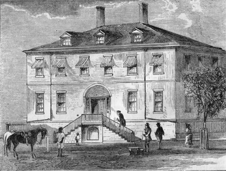 The US Treasury Building (built 1804) U.S. Treasury building (1804) (Harper's engraving).png