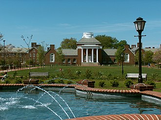 University of Delaware -  The south green with Memorial Hall in the background and Magnolia Circle in the foreground.