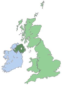Carte du Royaume-Uni et de l'Irlande