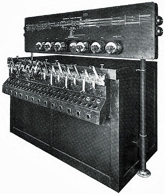 Union Switch & Signal - Image: US&S Model 14 pwr interlocking w model board bulletin 100