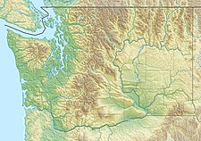 Map showing the location of Easton Glacier